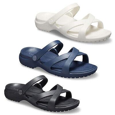 Crocs Leichte Sandalen (Crocs Crossband Meleen Sandalen Womens Sommer Leichter Schaumstoff)