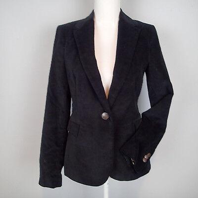ZARA BLACK VELVET BLAZER JACKET SIZE m   h7 Black Velvet Blazer Jacket