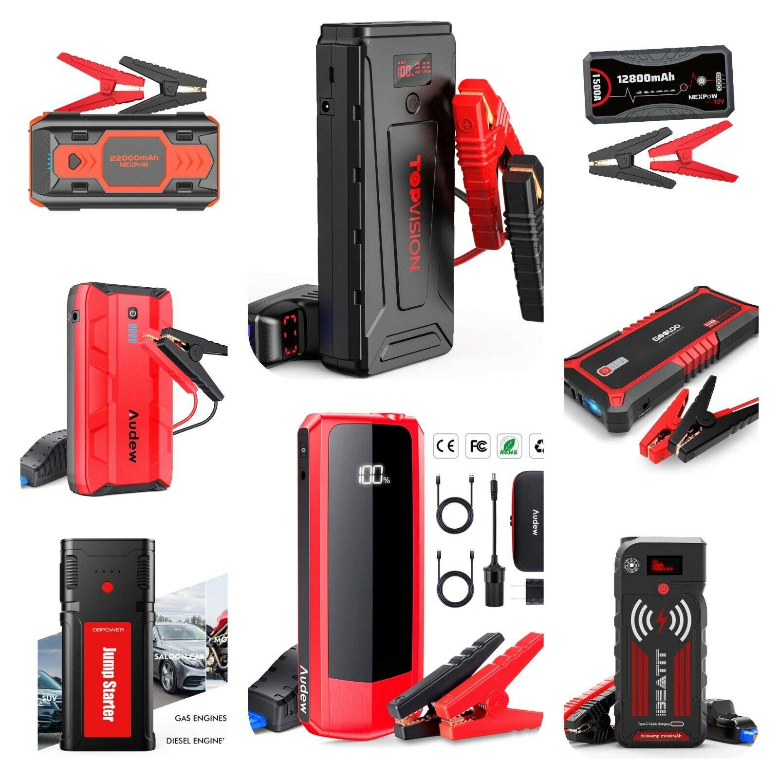 12V Peak Car Jump Starter Box Power Bank Battery Portable Mo