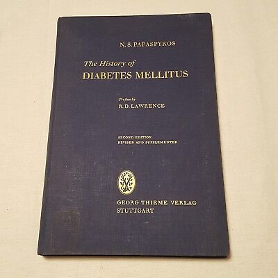 History Of Diabetes Mellitus Hardcover By N S  Papaspyros M D  1964 2Nd Edition