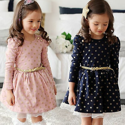 Girls Easter Clothes (Baby Little Girls Clothes Flower Dresses Kids Easter Belt Princess Wedding)