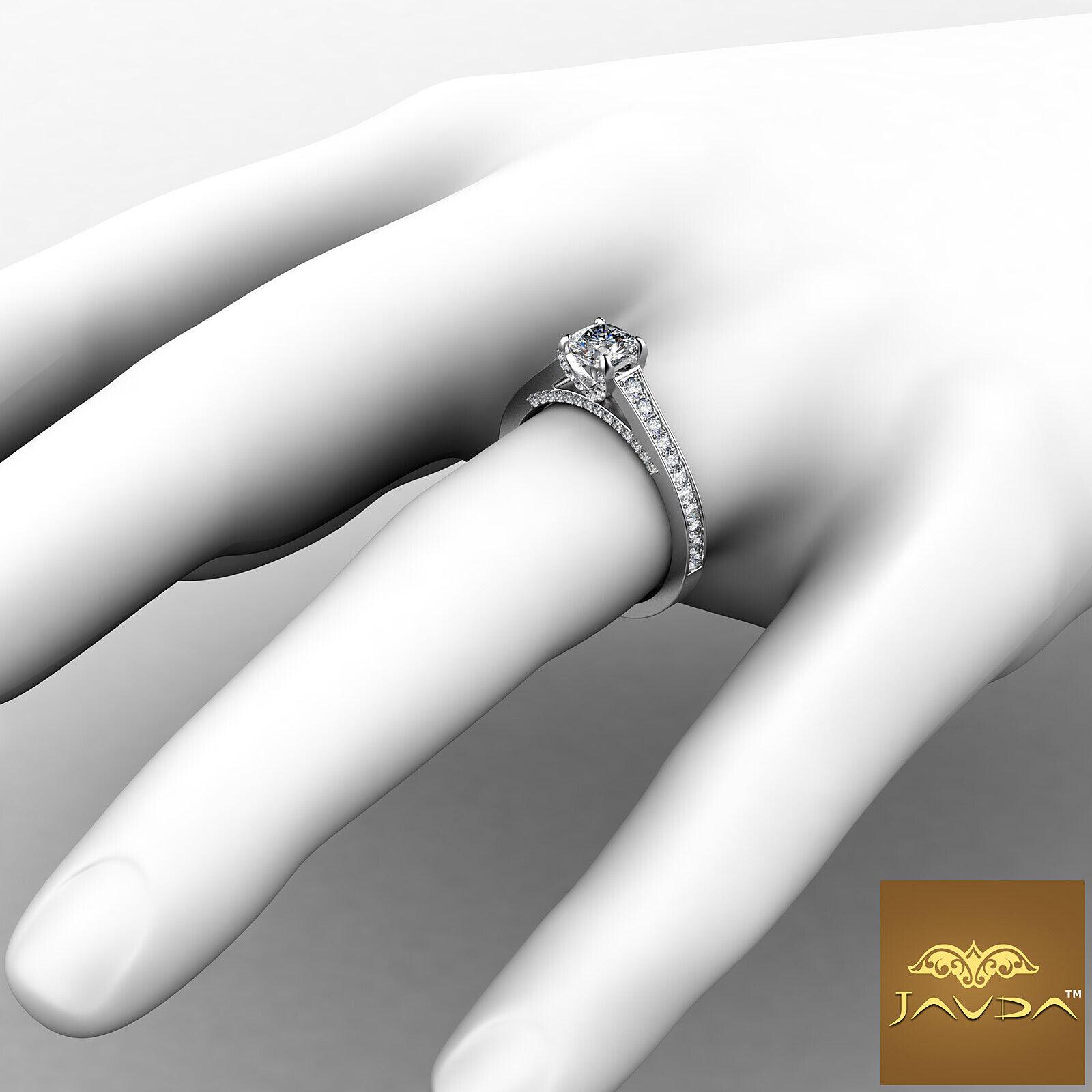 Cushion Cut Diamond Flawless Engagement GIA G VVS2 Pave Set Ring Platinum 1.25Ct 3