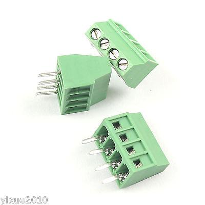 10pcs 2.54mm 0.1 Universal 4 Pin4 Poles Pcb Screw Terminal Block Connector