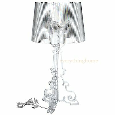 Acrylic Modern Table Lamp - CLEAR ACRYLIC TABLE LAMP GRANDE FRENCH STYLE 28