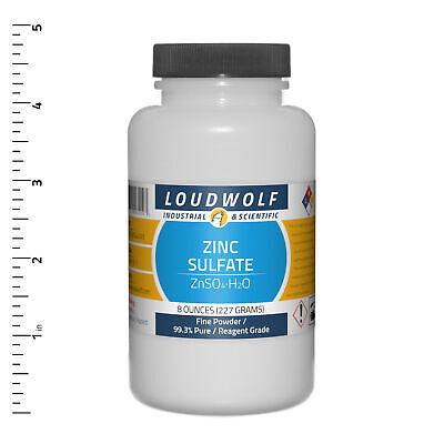 Zinc Sulfate 8 Oz Reagent Grade Fine Powder Usa Seller