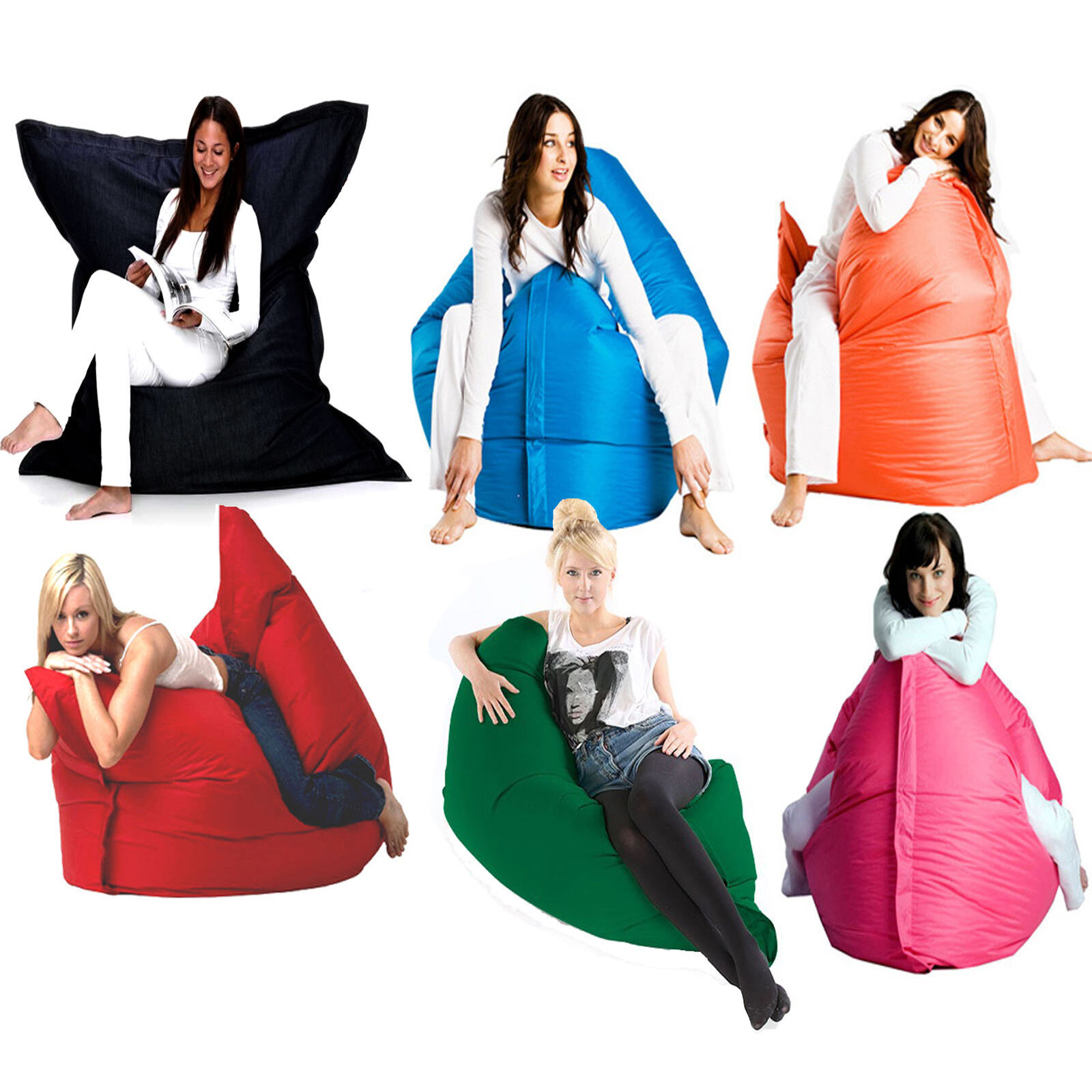 Giant Xxl Bean Bags Large Floor Cushion Lounger Indoor