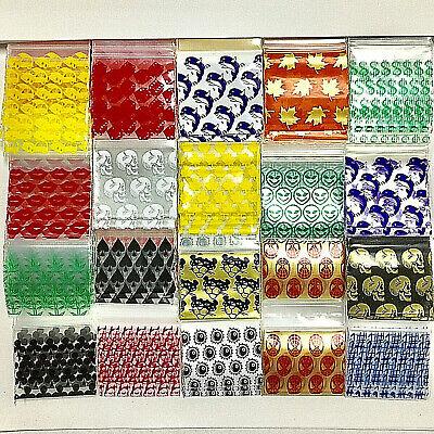 1515 15125 1.5 X 1.5 1.25 Mini Zip Lock Design Bags 1000 Baggies 10 Design Mx