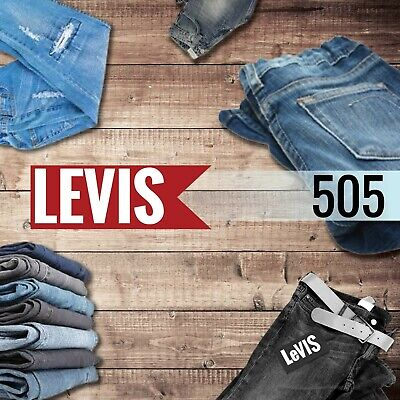 Genuine Levis 505 Mens Jeans Original Vintage Straight Regular Fit Bottom