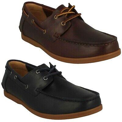 Spitze Leder Boot Schuhe (Herren Clarks Leder Spitze Oben Freizeit Alltag Weich Boot Schuhe Größe Morven)