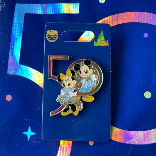 Disney Parks 50th Anniversary Mickey & Minnie Pin - NEW
