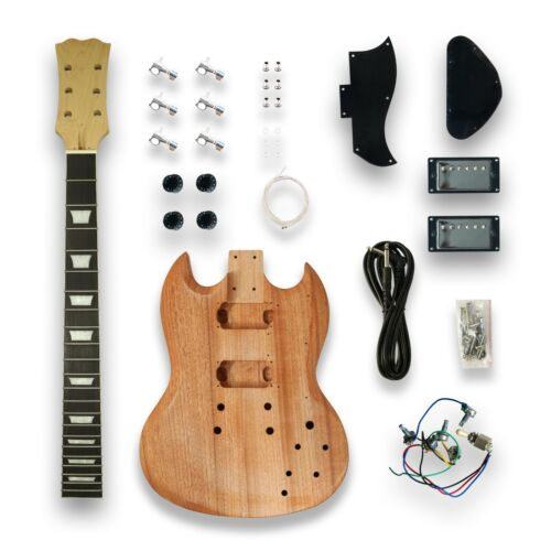 DIY Electric Guitar Kits for SG Style, Okoume Body Maple Neck