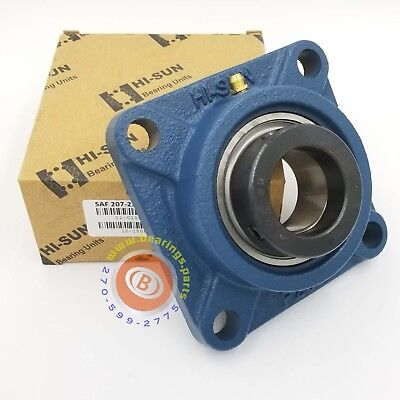 1.4375 In Square Flange Units Cast Iron Saf207-23 Mounted Bearing Sa207-23f207