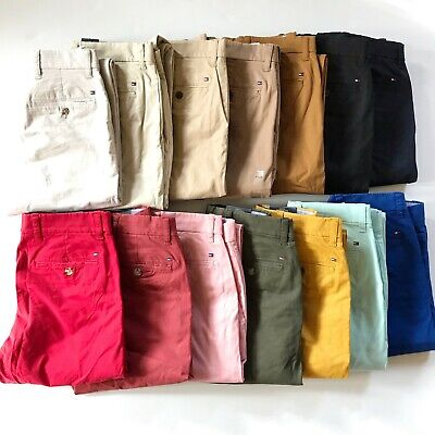 NWT Tommy Hilfiger Men's TH Flex Stretch Slim Fit Chino Pants 16 Colors All Size