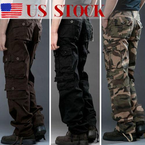 New Military Mens Cargo Pants Combat Camouflage Camo Tactica