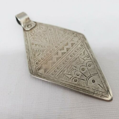 Antique Moroccan Berber Tuareg Sterling Silver Pendant Ethnic Tribal Vintage