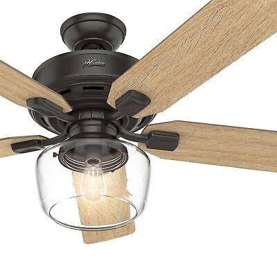 Hunter Fan 52 inch Casual Nobel Bronze Ceiling Fan w/ Light Kit & Remote Control