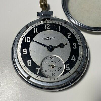 Ingersol Triumph Gents Pocket watch ‼️FOR PARTS OR REPAIR‼️Not Working‼️