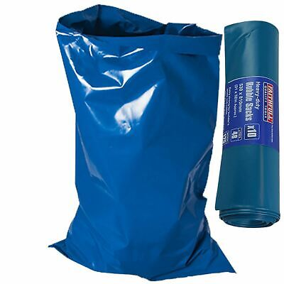 Faithfull 10 Pack Heavy Duty 530 x 810mm Blue Rubble Sacks Building Garden Waste
