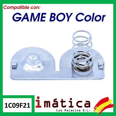 METAL DE PILAS PARA NINTENDO GAME BOY COLOR TRASERO CONTACTO BATERIA TAPA
