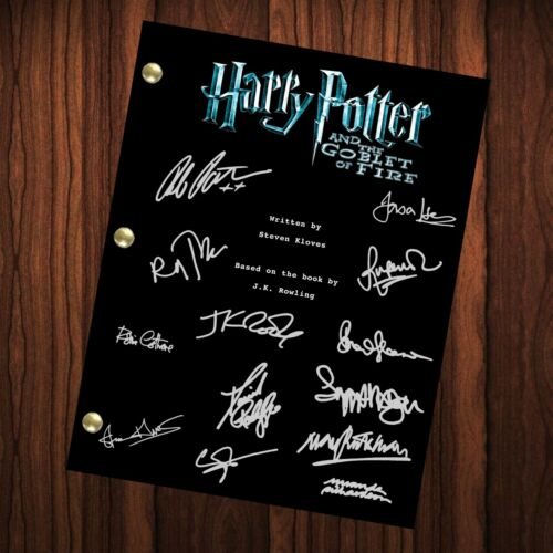 Harry Potter Autographed Signed Movie Script Full Screenplay Goblet Of Fire RP