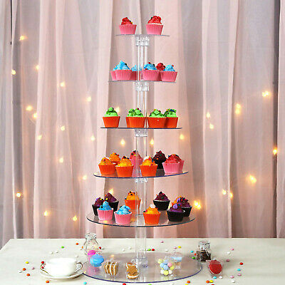 "6 Tiers Cup Acrylic 18"" CupCake Stand Birthday Party Catering Display Decoration"