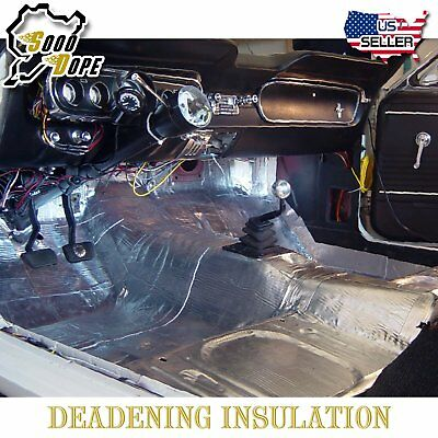 (50sqft Heat Sound Insulation Shield Mat Acoustic Dampening Thermal Noise Block)