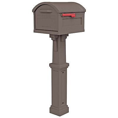 Gibraltar Mailboxes GHC40M01 Grand Haven Decorative Package Mailbox, Extra La...