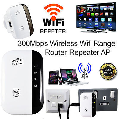 300Mbps 802 11 Wireless N Wifi Repeater Ap Router Signal Booster Range Extender