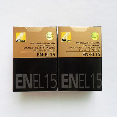 2X EN-EL15 Battery For Nikon D850 D810 D800 D750 D7000 D7100 D7200 MB-D15 MB-D16