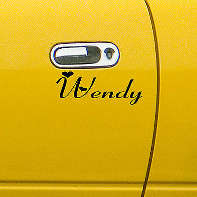 2 x Personalised Name Vinyl Sticker,Decal,Car Bumper,Window,Laptop,Wall,Mirror