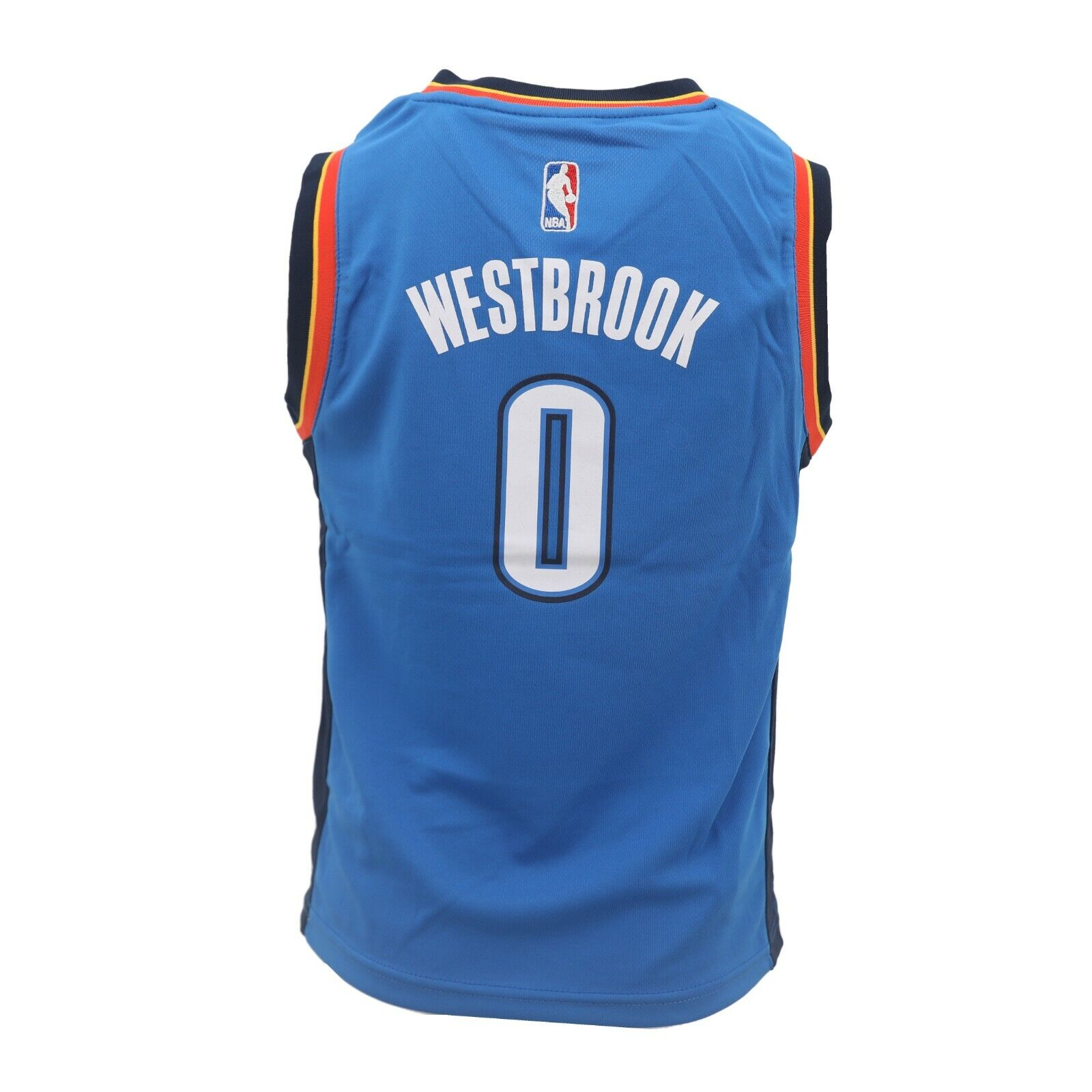 brand new 3b588 81db0 Details about Oklahoma City Thunder NBA Adidas Youth Kids Size Russell  Westbrook Jersey New