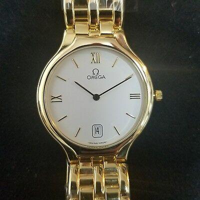 Omega Deville 18k Solid Gold Mens Watch