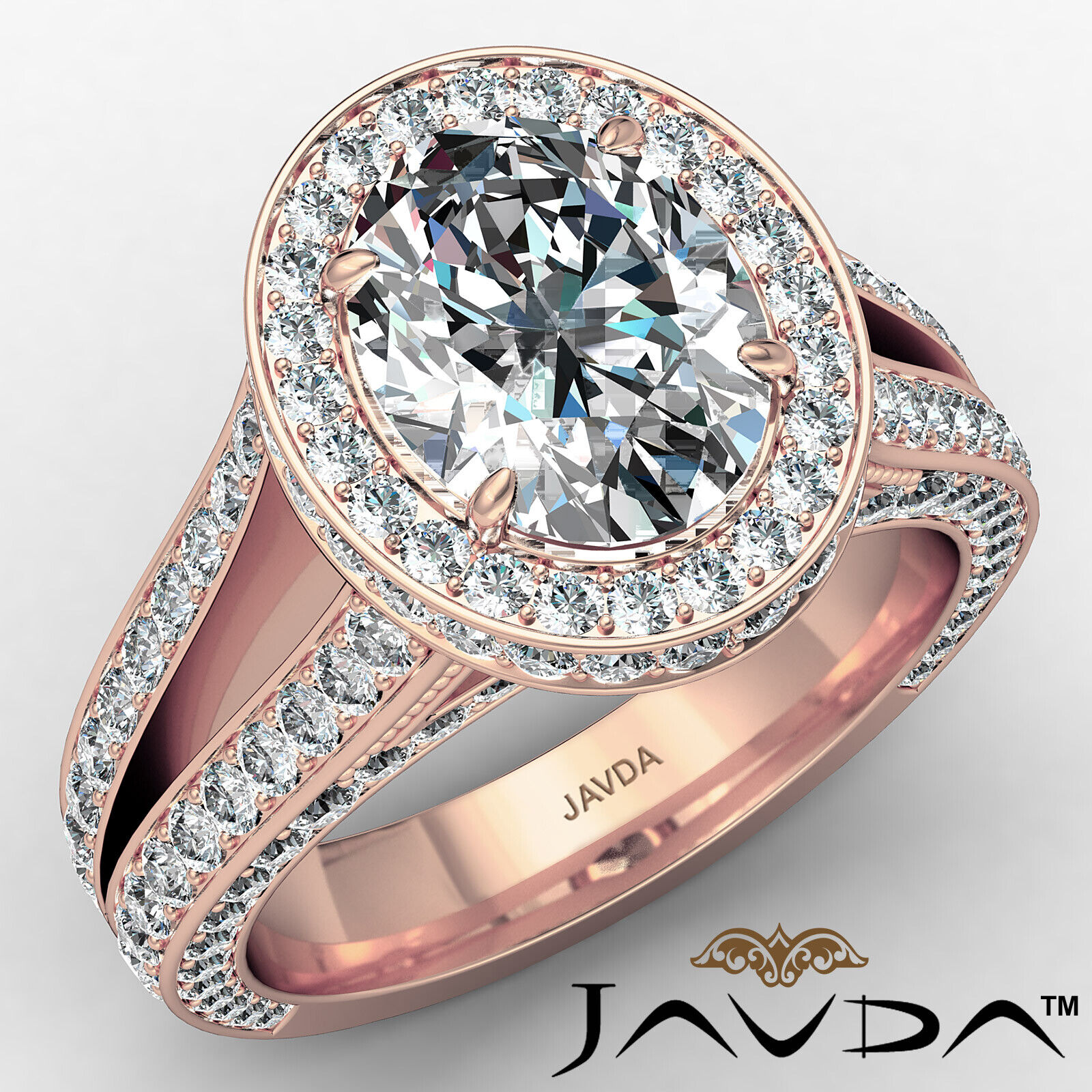 Halo Oval Diamond Engagement Ring GIA Certified F Color & SI1 clarity 2.31 ctw 2