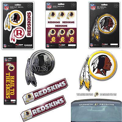 NFL Washington Redskins Premium Vinyl Decal / Sticker / Embl