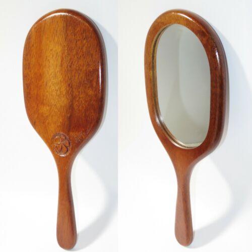 Hawaii Koa Wood Mirror Hand Mirror Handcrafted Signed Made in Hawaii Used