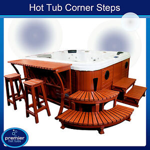 luxury hot tub corner steps whirlpool ebay