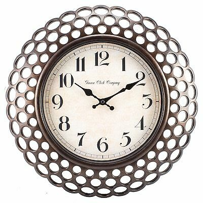 10026583 Geneva Clock Company 16 Plastic Antique Copper Style Analog Wall Clock