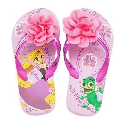 Baby or Toddler Disney Store Rapunzel Pascal Flip Flops Size 5/6 7/8 9/10 - Toddler Store