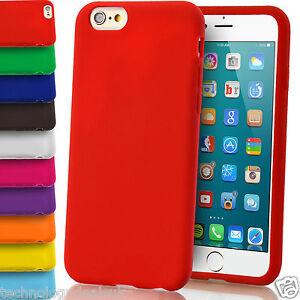 Carcasa-Suave-de-Gel-de-Silicona-Mate-Lisa-funda-para-Apple-iPhone-6-Plus-5-4