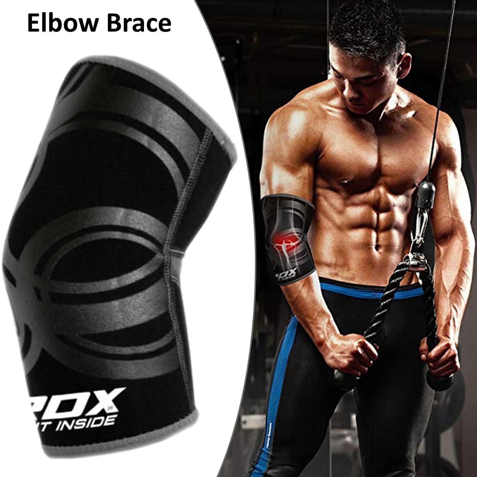 RDX Elbow Support Pads Protector Brace Sleeve Guard Training