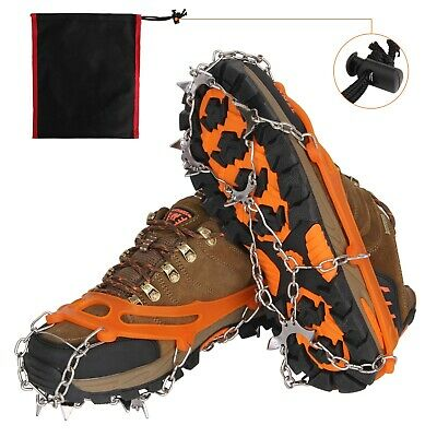 Metal Chain Crampons Traction Cleats Ice Snow Grips With 10 Spikes For Climbing