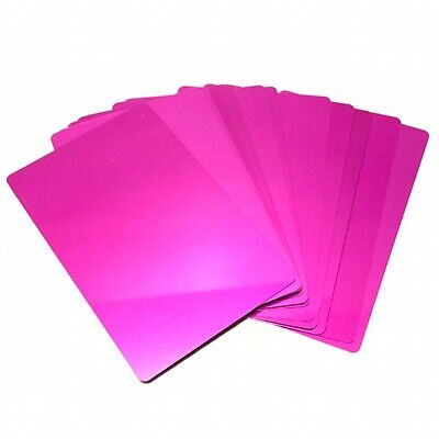 100 Pink Aluminum Business Card Blanks Laser Metal Plate Sheets Engraving Plaque