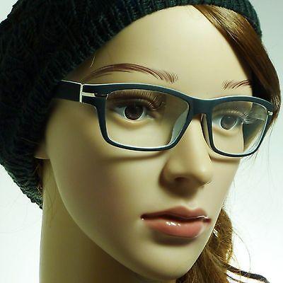NERD Men Women Matte Rectangle Frame Trendy Clear Lens Eye Glasses BLACK/WHITE (Trendy Nerd)