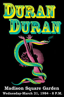 Duran Duran at Madison Square Garden Concert Poster 1984