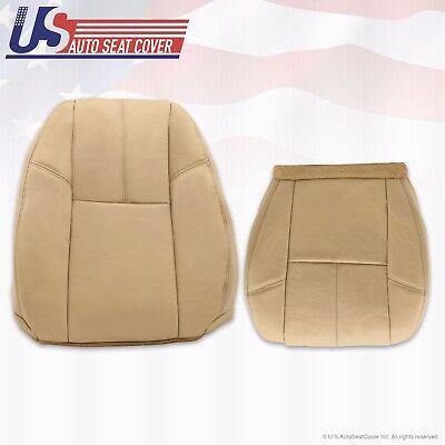 2013 2014 Chevy Silverado 1500 Driver Bottom & Lean Back Leather Seat Cover Tan