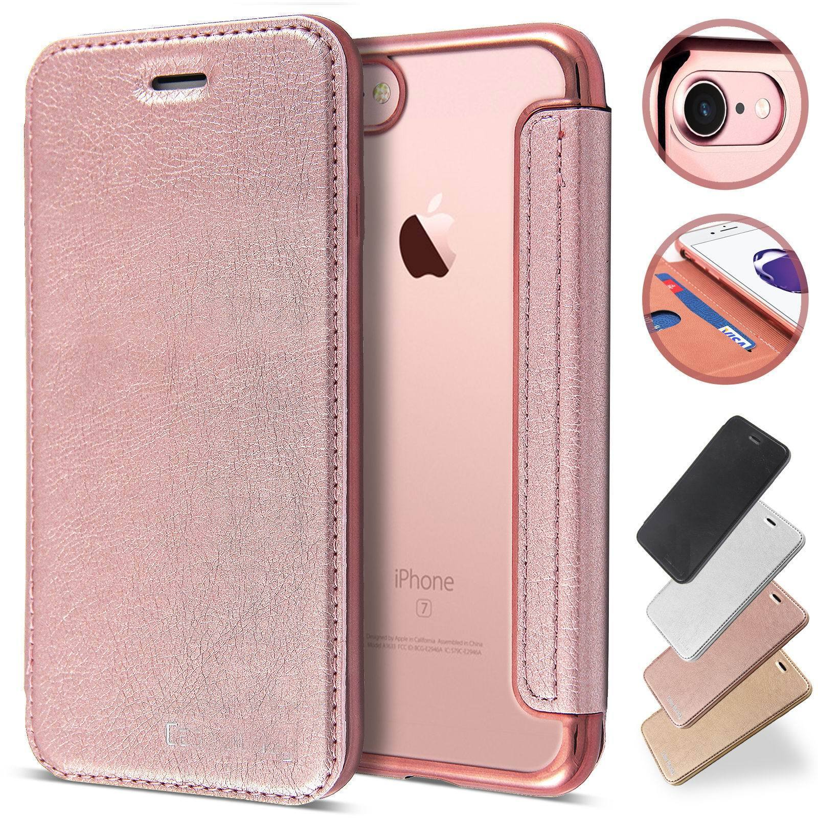 Slim Book Leather Clear Wallet Flip Cover Case For Iphone 12 11 Pro Max Xs 8 7 Ebay