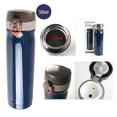 NEW Stainless Steel Vacuum Flask Coffee N Water Thermos Bottle 500 ml HOT N COLD