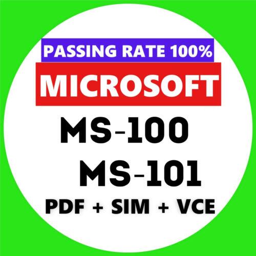 Microsoft MS-100 MS-101 EXAM Test PDF & Sim Q&A