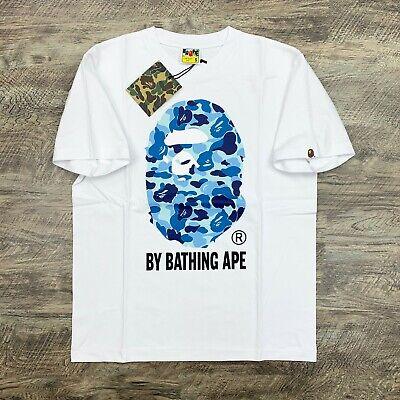 BAPE by A Bathing Ape ABC Camo Blue on White T-shirt