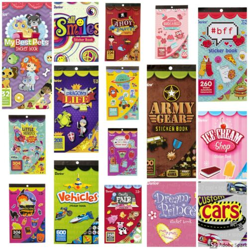 Darice Sticker Book 6 Sheets! Huge Variety 35 Choices! Volume Discount ABCraft
